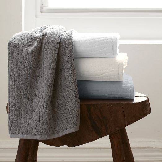 Organic Pleated Edge Towels